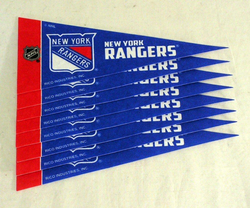 Rico NHL Rangers - NY Ny Rangers 8 Pc Mini Pennant Pack Sports Fan Home Decor, Multicolor, One Size
