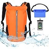 VBIGER Waterproof Dry Bag Backpack - 20L Free Phone Pouch+Bum Bag Set - Lightweight Floating Dry Sack with Adjustable Shoulde