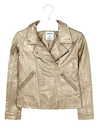 0fb00e39d828 Amazon.com  Mayoral - Leather Jacket for Girls - 6410