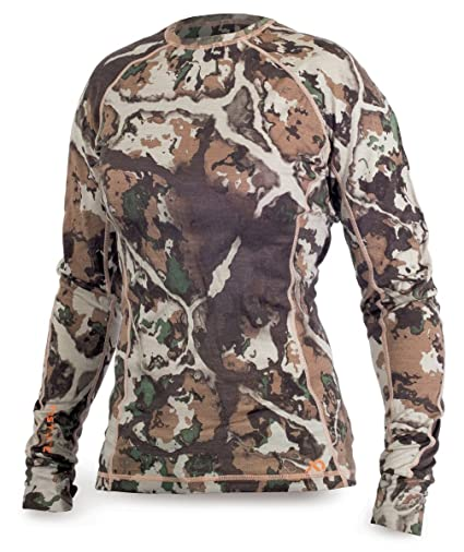 Amazon.com  First Lite Women s Merino Wool Long Sleeved Shirt Lupine ... e011bd91b