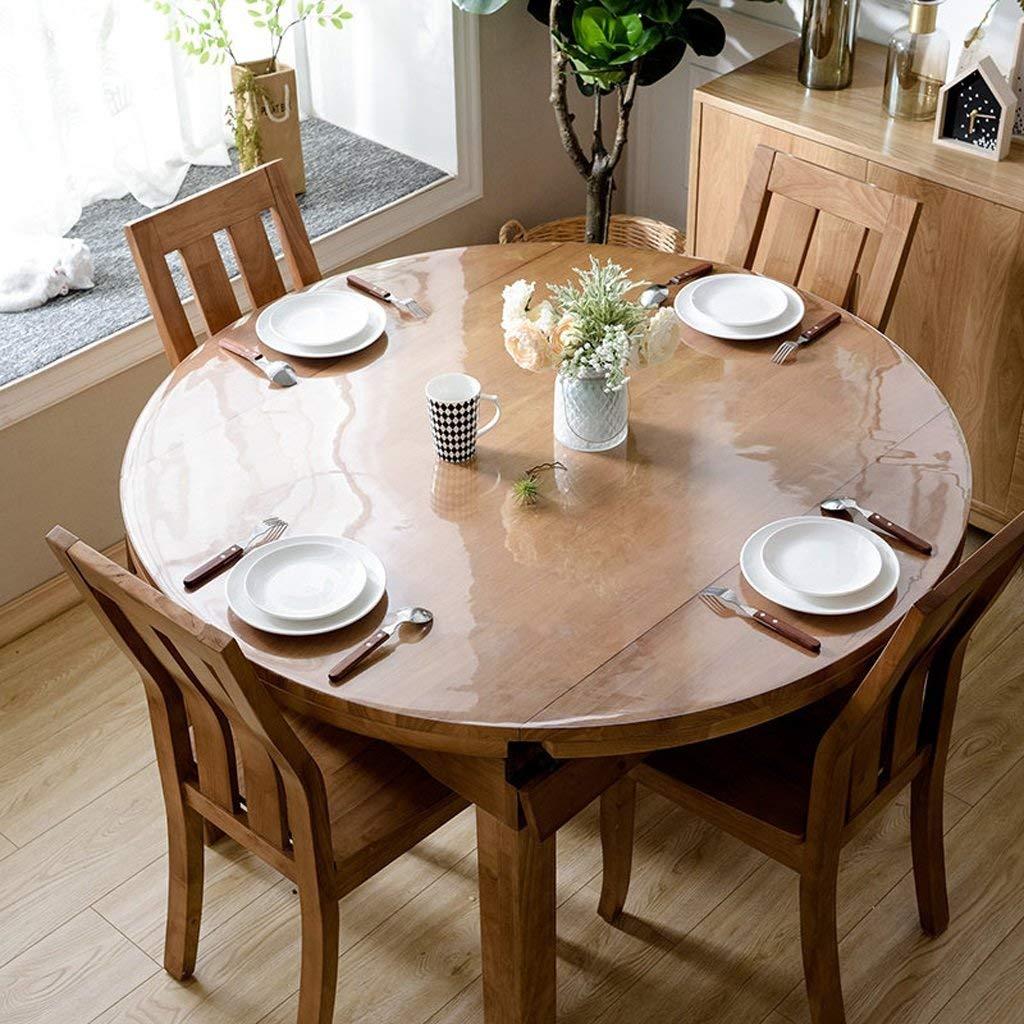 QYM ヨーロッパのテーブルクロスPVCラウンドテーブルクロス、柔らかいガラステーブルats防水クリスタルプレートコーヒーテーブルクロステーブルクロス (Color : B, サイズ : 110*110cm) 110*110cm B B07RTS911C