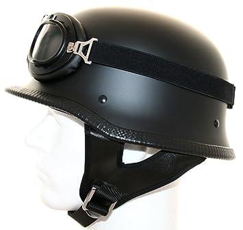 ATO - Casco para moto (con gafas de aviador), diseño retro