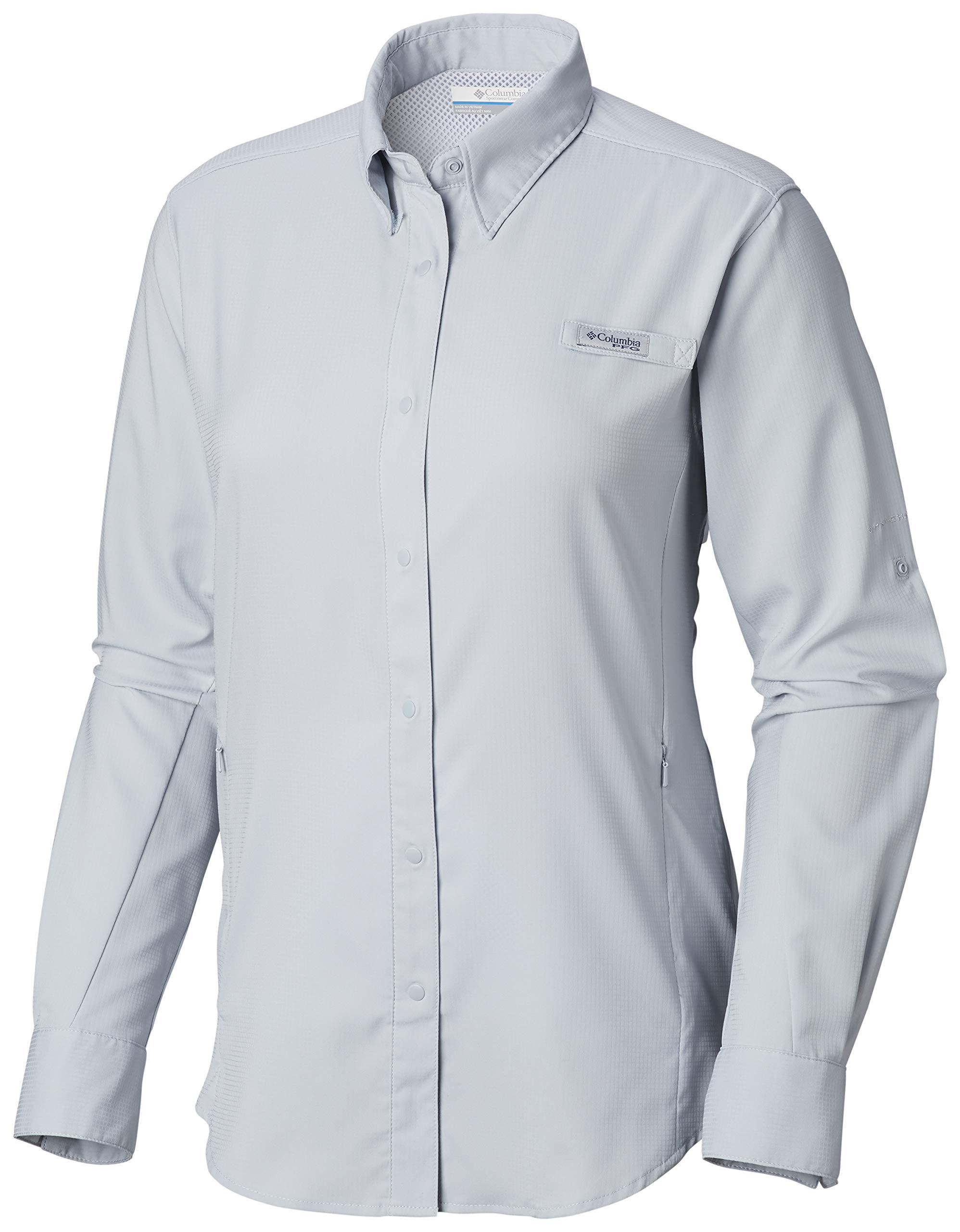 Columbia Women's PFG Tamiami II Long Sleeve Shirt , Cirrus Grey, Large