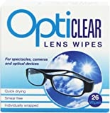 Opticlear Lens Wipes (Pack of 6, Total 156 Wipes)