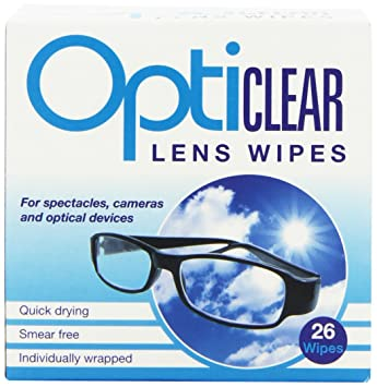 30 Optical Lens Wipes By Vision Clear