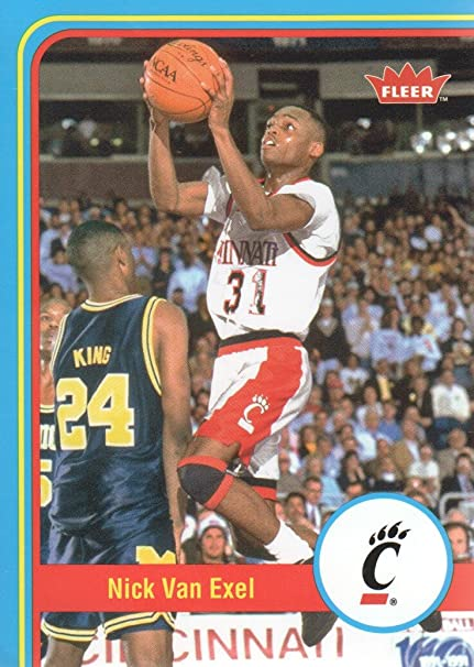 2012-13 Fleer Retro Basketball  28 Nick Van Exel Cincinnati Bearcats ... 3e6ca6d48