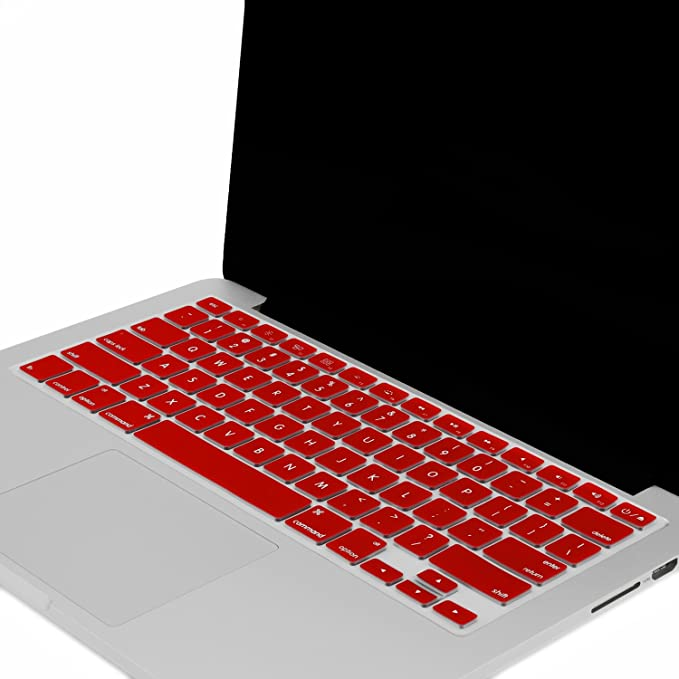 """UNIK CASE-Silicone Keyboard Cover for Macbook Pro 13/"""" 15/"""" 17/""""Unibody-Wine Red"""