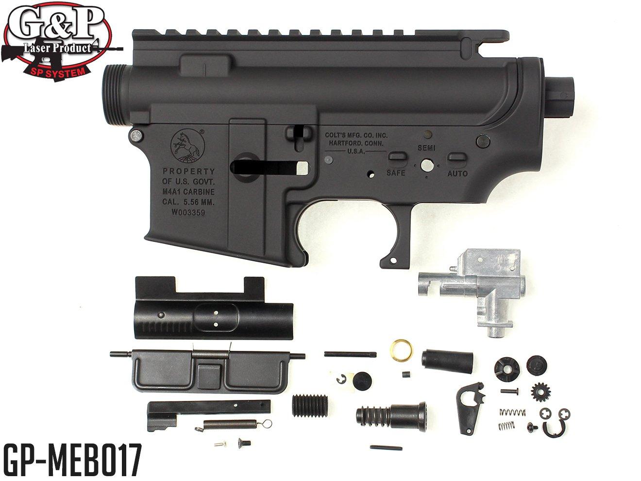 G&P M4A1 F.R.S&テーパーバレル対応 メタルフレーム BK B01LZ3AESV