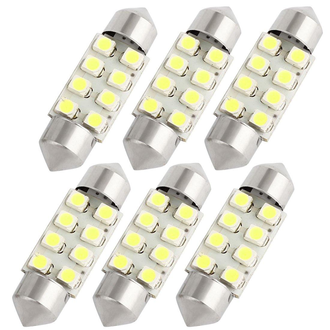 2 Piezas de 31mm Luz LED Blanco 3528 SMD 6 LED DE3175 DE3021 Luz de Boveda Mapa para Coche SODIAL R
