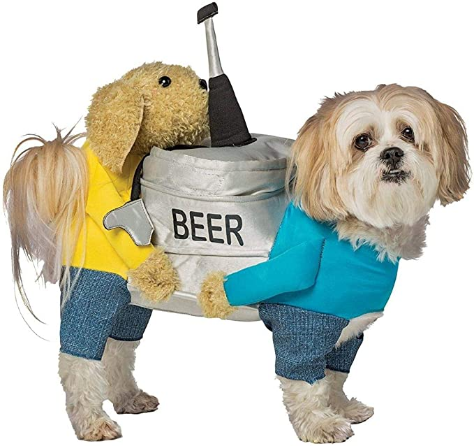 Dogs Carrying Beer Keg Pet Costume