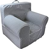 CUB CHAIRS Comfy Small Grey Microdot Kid's Chair with Machine Washable Removable Cover