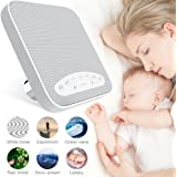 White Noise Machine, 2018 Upgraded Sleep Sound Machine, Sound Therapy Machine with 3 Timers & 6 Natural Sound Options Including Lullaby, Ideal for Tinnitus Sufferer, Light-Sleeper, Kid, Baby jarvania