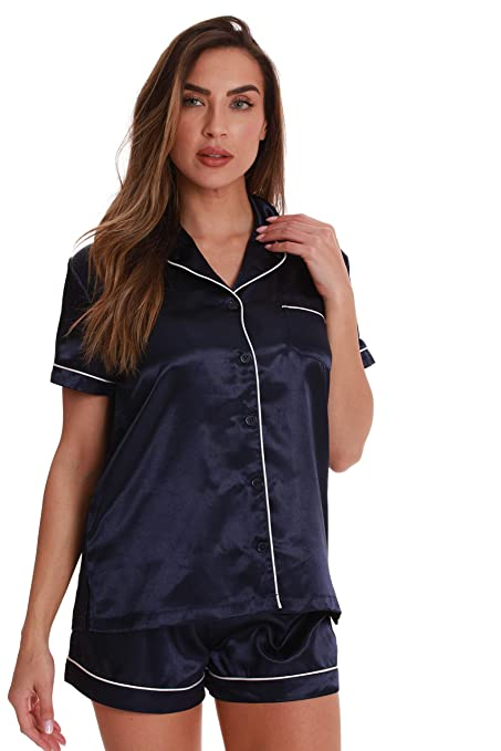 Just Love Solid Satin Pajama Short Set For Women Sleepwear P Js by Just Love