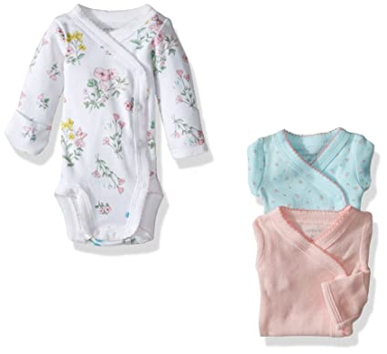 e8cbf3f3d Amazon.com: Carter's Baby Girls' 3 Pack Side Snap Bodysuits (Baby): Clothing