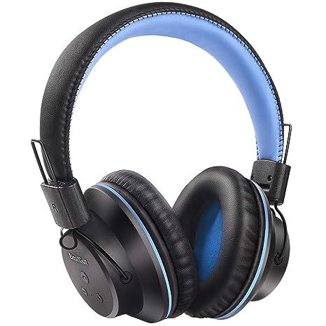 BestGot UKS1 - Auriculares de Diadema inalámbricos con Bluetooth, Plegables, con Controlador estéreo de