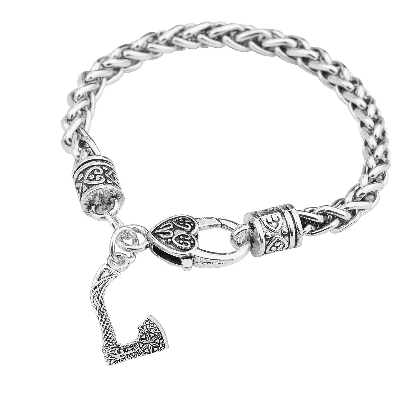 Teamer Viking Wolf Head bussola amuleto Slavi Kolovrat ascia ciondolo bracciali amuleto gioielli Qiju