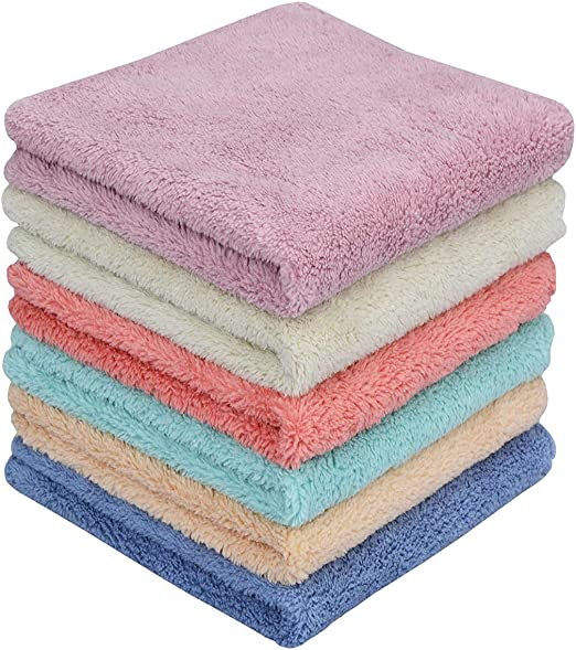 Amazon.com: MAYOUTH Microfiber rag Bulk Multi-Functional for House Furniture Reusable Rags Kitchen Wipes Dish Cloths Absorbent and Fast Drying (6 Colors x2, 12): Home & Kitchen