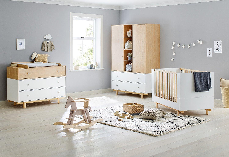 Pinolino 103403BG Kinderzimmer 'Boks' breit groß, weiß weiß