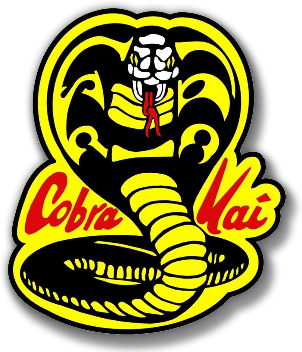 cobra kai sticker karate kid skate cell laptop bumper vinyl weatherproof decal