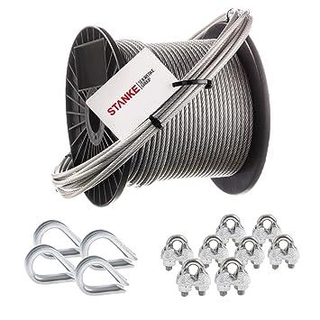 2mm 6x7 Stahlseil verzinkt Drahtseil 200m Rolle Seil Seile Stahlseile DIN 3055