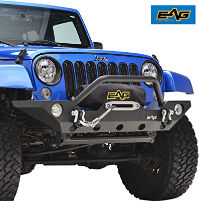 Rampage Products 88625 Textured Black Double Tube Front Bumper with Light Pod and Stinger