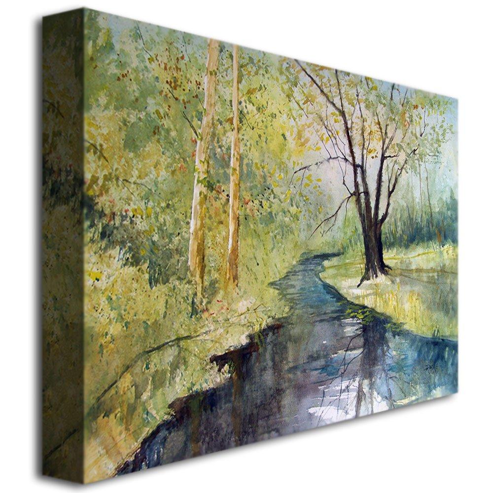 Covered Bridge Park I by Ryan Radke, 22×32-Inch Canvas Wall Art