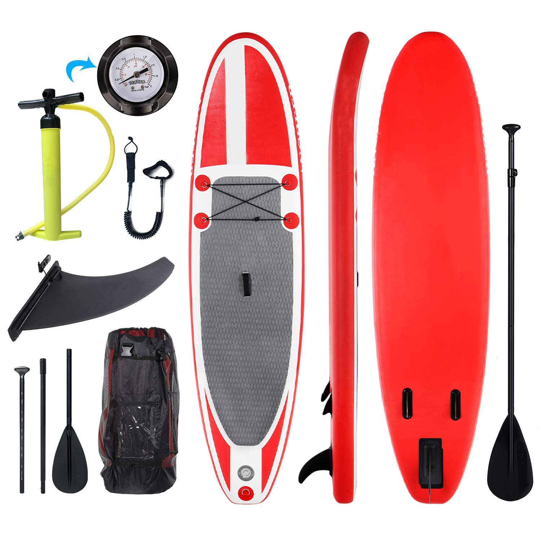 Tabla Paddle Surf Hinchable para Principiantes con Bomba de Acción ...