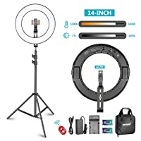 Deals on Neewer 14-in Outer Dimmable Bi-Color SMD LED Ring Light Lighting Kit
