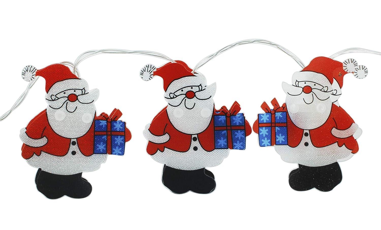 Luci stringa di Natale 20 LED 7.2 luci di Natale Babbo Natale a batteria per decorazioni natalizie - Bianco caldo HighMount