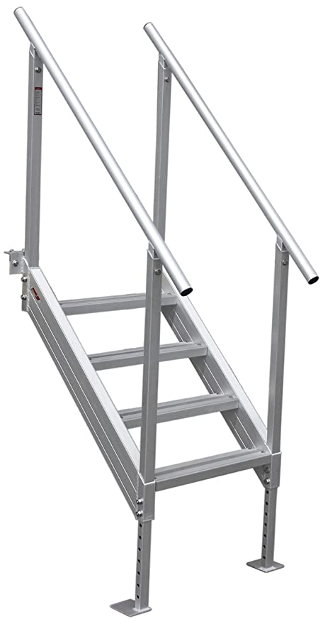 Beau Extreme Max 3005.3843 Universal Mount Aluminum Dock Stair   4 Step