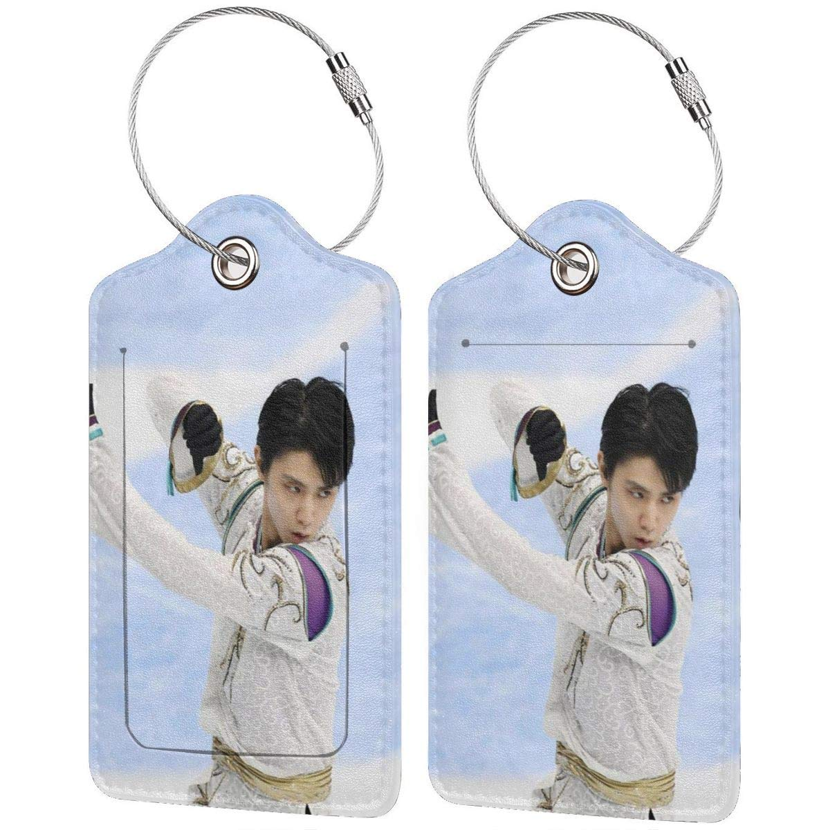 Yuzuru Hanyu 2018 Winter Olympics Mens Singles Champion Leather Instrument Baggage Bag Luggage Tags with Privacy Cover