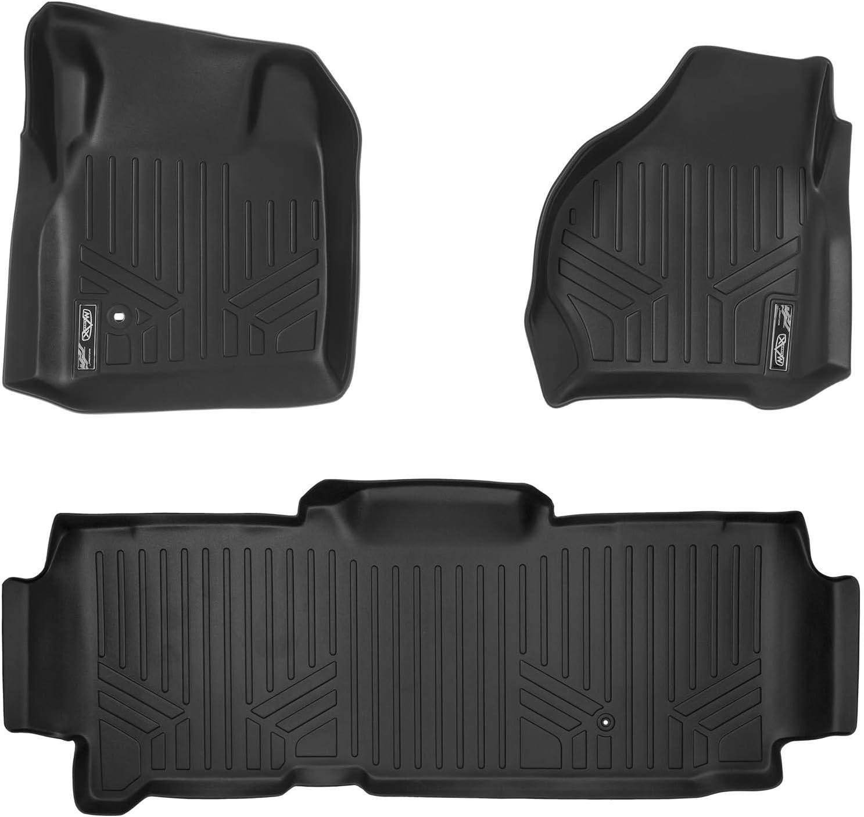 MAXLINER Floor Mats 2 Row Liner Set Black for 1999-2007 Ford F-250 / F-350 Super Duty SuperCab