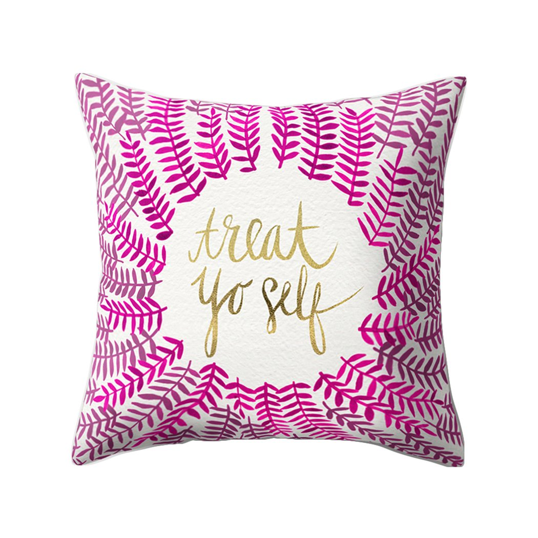Colorido Fashion English Phrase Print Throw Pillow Case Cushion Cover Sofa Home Decor size Medium (12#)