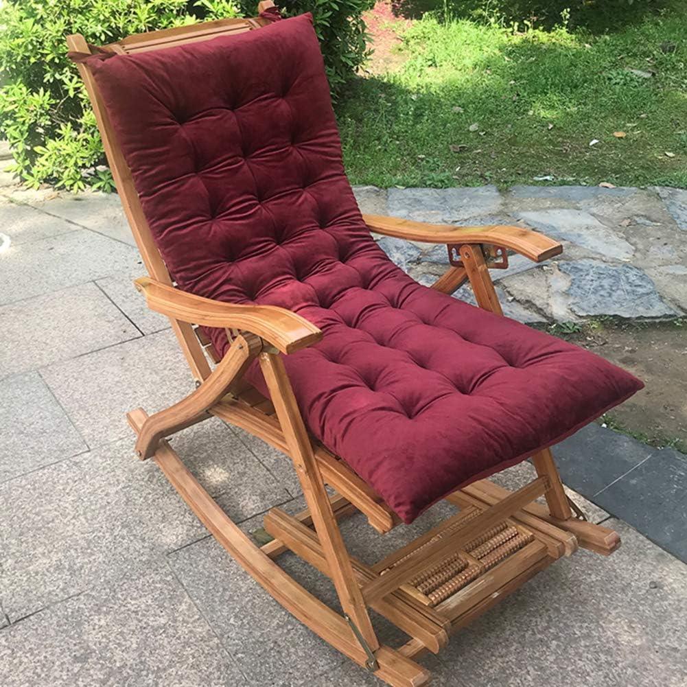 Amiiaz Coussin De Chaise Longue /épais Fauteuil de Relax de Jardin Chaise Longue Coussin dassise Matelas pour Chaises Longues Coussin Lounge Chair Antid/érapant-115x45cm E 45x18inch