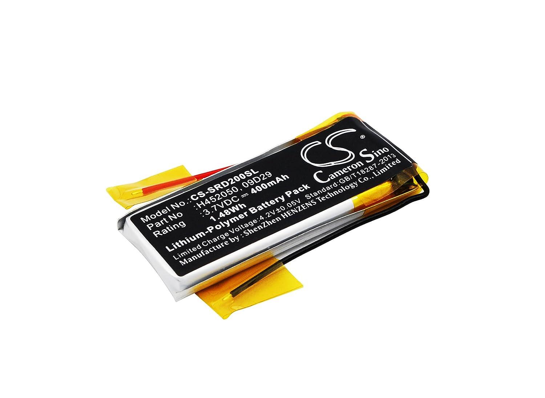 Bater/ía de Auriculares inal/ámbricos para Cardo 09D29 H452050 Scala Rider 09D29 H452050 para Cardo Q2 Q2 Pro Rider Solo Compatible con Scala Rider Solo TeamSet Scala Rider Q2