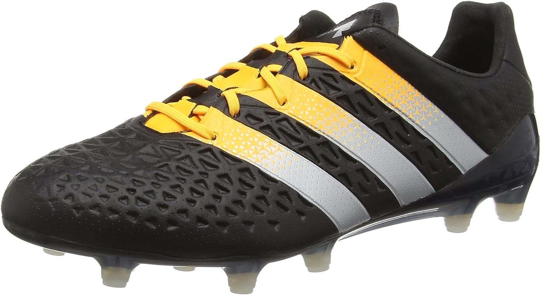 adidas Herren Ace 16.1 Fg/Ag Fußballschuhe Schwarz Core Black Silver Met Solar Gold