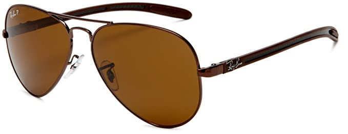 33fa0585712 Ray-Ban Men s RB8307-029 71 Aviator Carbon Fibre Oval Sunglasses ...