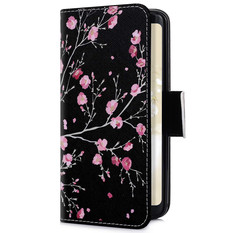 Jinghuash Kompatibel mit Xiaomi Redmi NOTE 6 Pro H/ülle,Xiaomi Redmi NOTE 6 Pro Lederh/ülle PU Leder Flip Case Wallet Brieftasche Klapph/ülle Tasche HandyH/ülle f/ür Xiaomi Redmi NOTE 6 Pro-Roter Saflor