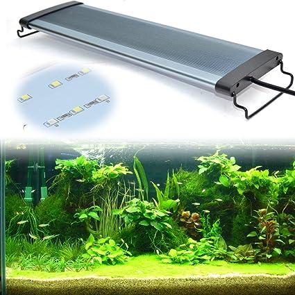 High Quality Eday Aquarium Beleuchtung Leuchte Lampe LED Aufsetzleuchte Schwarz, Weiß+ Blau (30 35CM): Amazon.de: Haustier