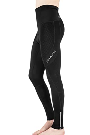 1480280f46ac9 Dinamik Men's Cycling Tights, Extra Padded Long Bike Pants, Light  Breathable Compression Ankle Length