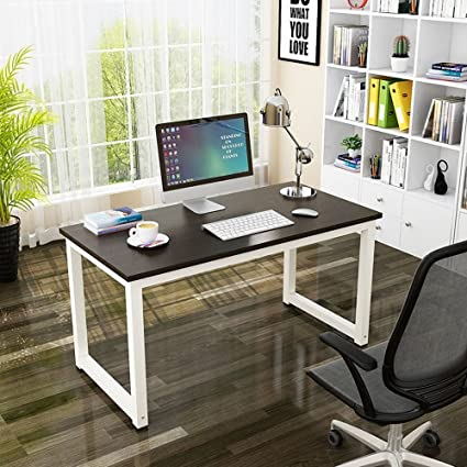 Bonnlo Computer Desk, Home Large Office Desk Modern Simple Style Computer  Table, Study U0026