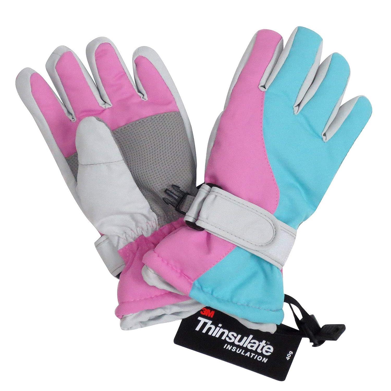 1de675478656 Amazon.com  Lullaby Kids Thinsulate Cotton Kids Windproof Waterproof Snow  Ski Gloves  Clothing