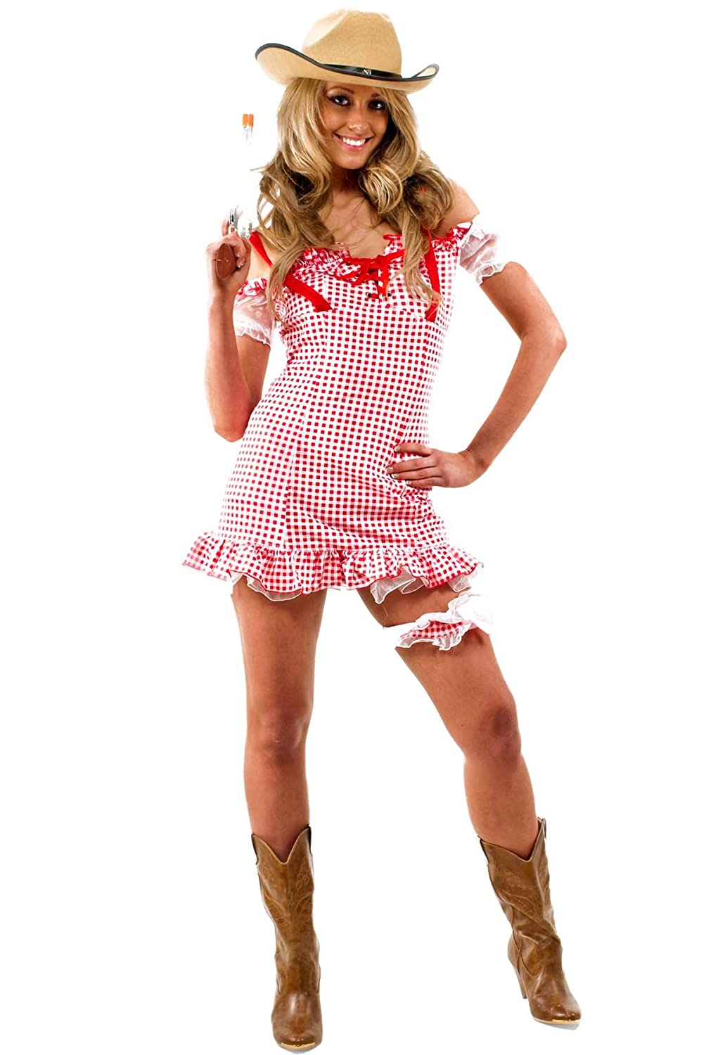 cc cowgirl cutie daisy duke fancy dress costume size 6 8 amazoncouk toys games