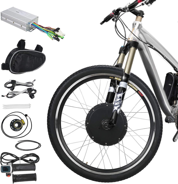 Voilamart Kit de motor de conversión de bicicleta eléctrica de 26 pulgadas para rueda delantera 36 V 500 W E-bike: Amazon.es: Deportes y aire libre
