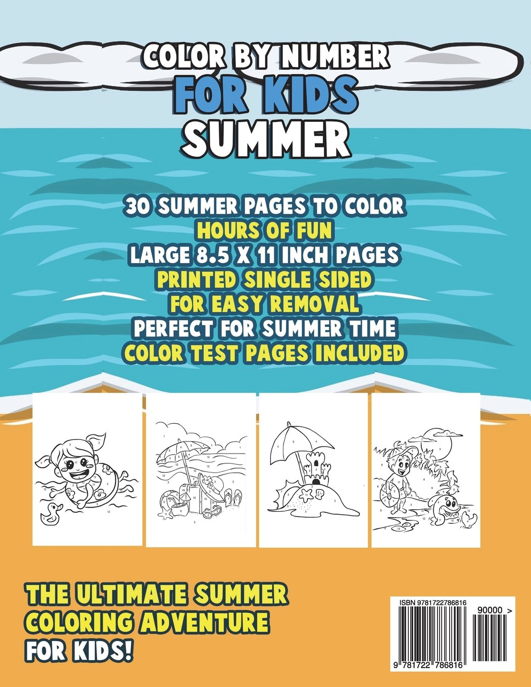 Amazon   Color by Number for Kids: Summer Coloring Book: Summer ...