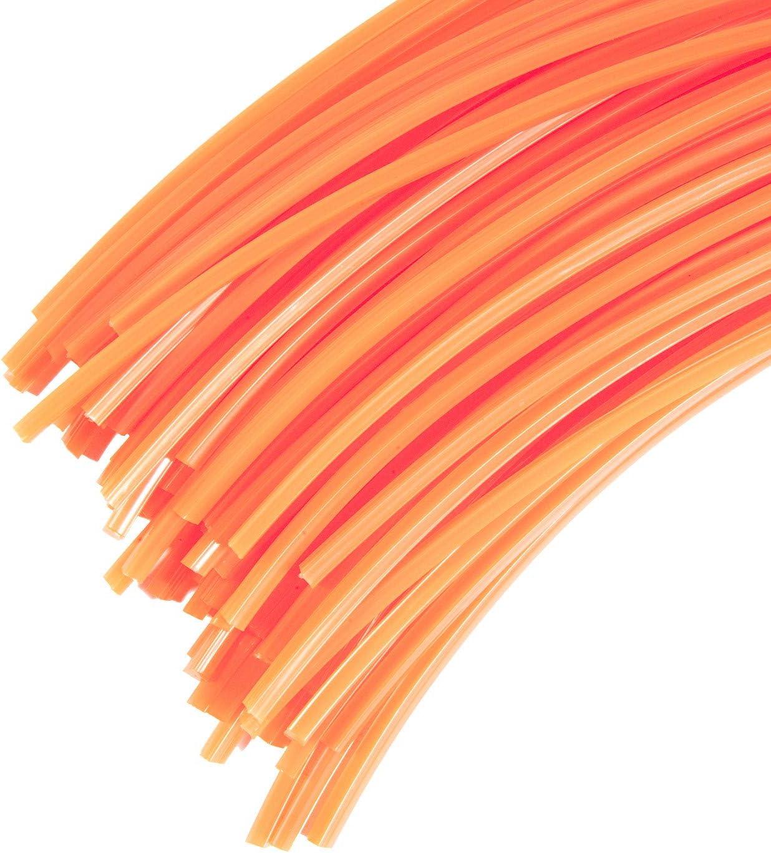 3 mm X 42 cm di fili professionale per decespugliatore 60 fili quadrato