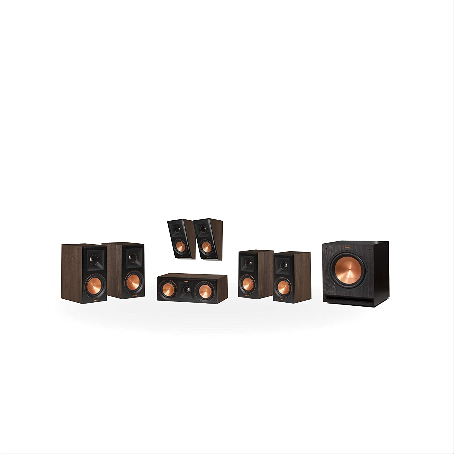 Klipsch RP-600M 5.1.2 Dolby Atmos Home Theater System - Walnut
