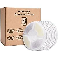 Rhodesy Filtros de Fuentes de Agua Gato/Perro para Fuentes de Flores, Filtros de Repuesto de Fuentes de Mascotas con Resina y Carbón Activo(8 PAQUETES)
