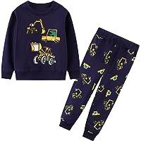 JinBei Conjuntos Deportivos para bebé Niño Niña Chándales Conjunto Sudaderas Sweater Pantalones Ajustable Cinturón…