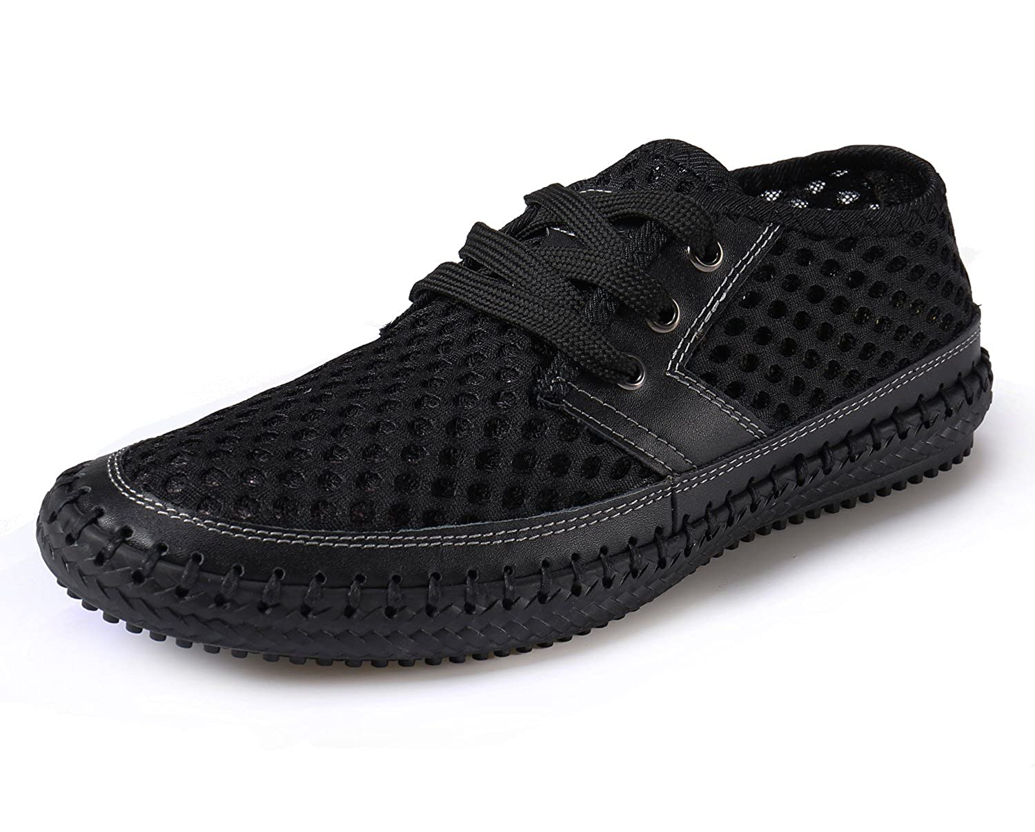 Norocos Men's Water Shoes Mesh Casual Walking Shoes Slip-On Loafers